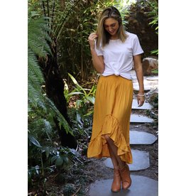 Wild and Free Skirt Mustard Size 6-14