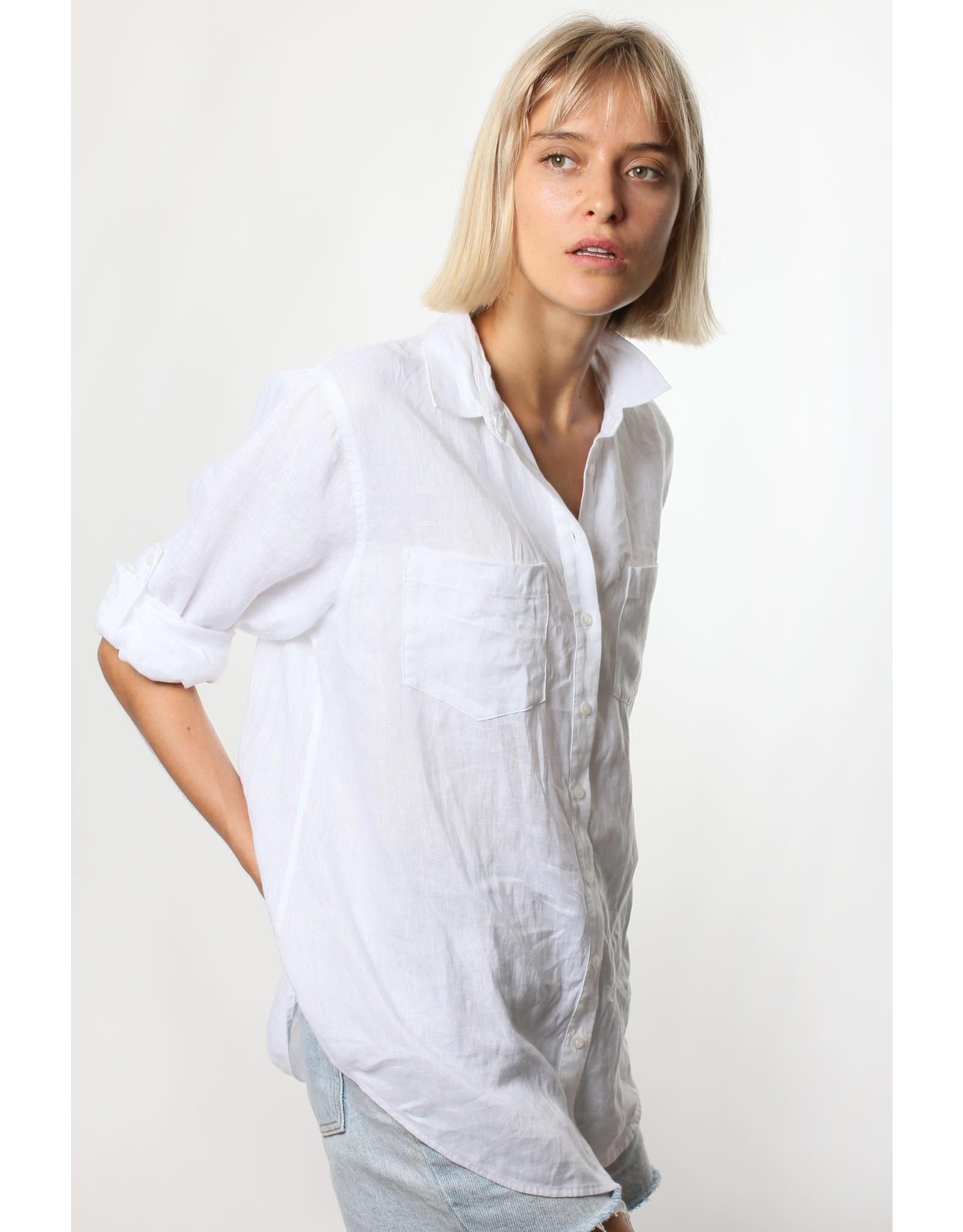 Hut Clothing The Boyfriend Linen Shirt