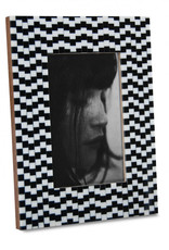 Horgans Black and White Small Squares Frame 4x6