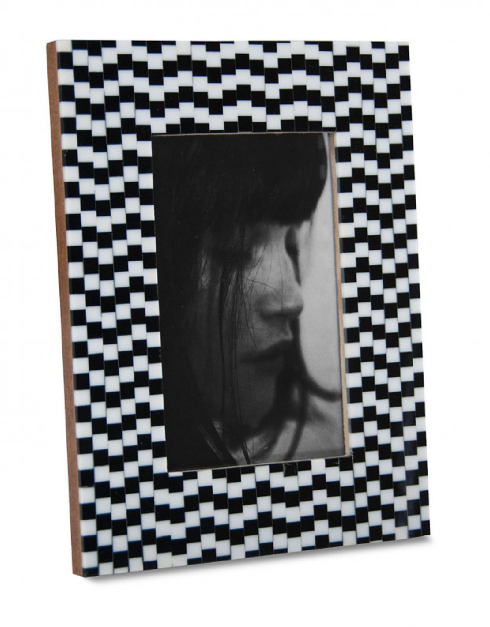Black and White Small Squares Frame 4x6