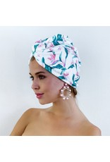 Louvelle Riva Hair Towel Wrap- Bird of Paradise