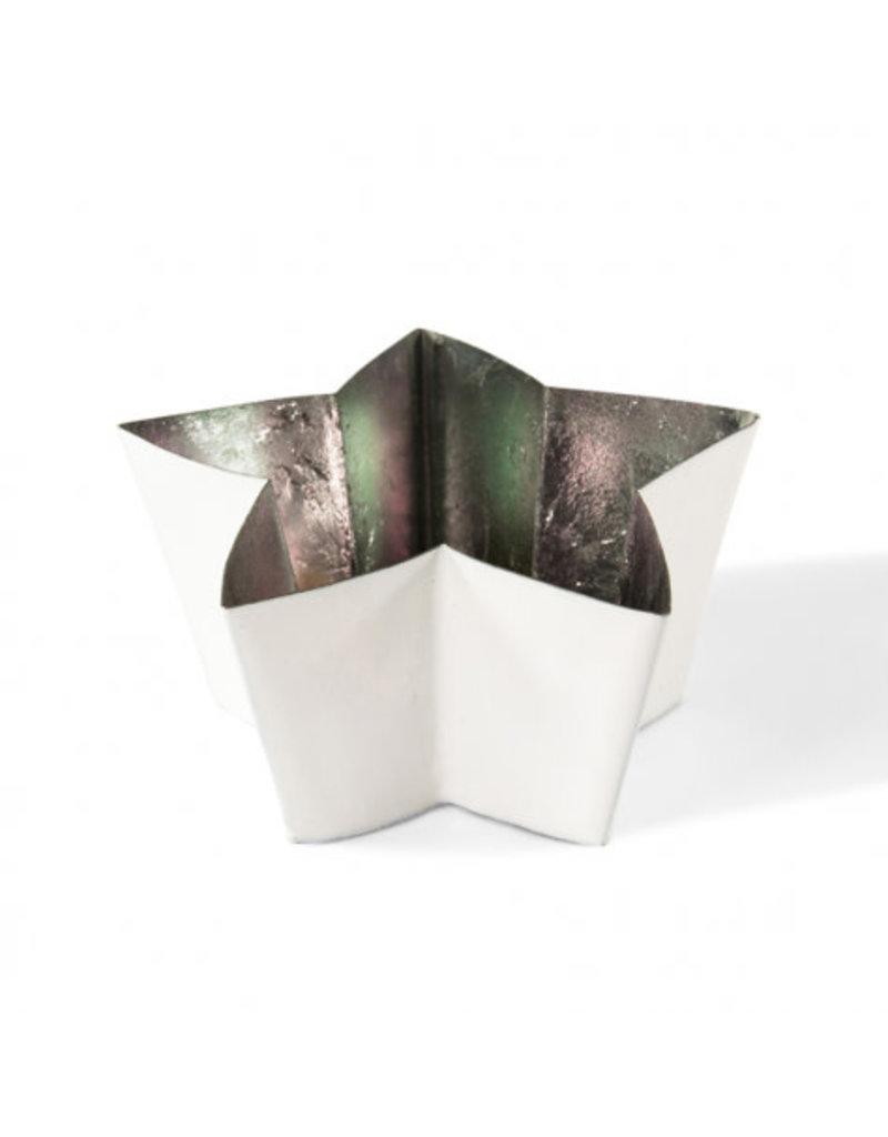 Horgans White Star Tea Light Candleholder