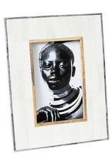 Horgans White Bone Frame with Grey Bone Border