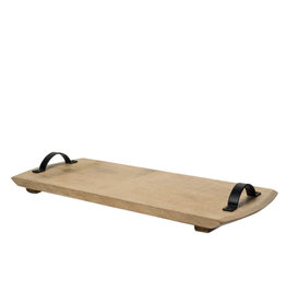 Horgans Mango Wood Cheese Platter with Handles