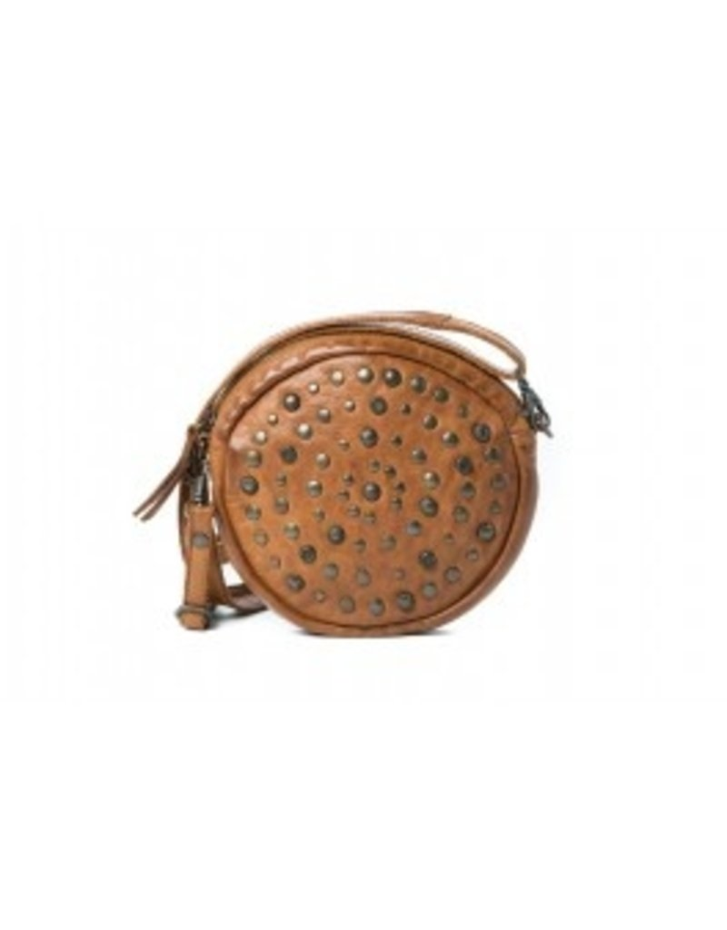 Geneva - Round Cross Body - Cognac