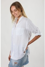 Hut Clothing The Linen Boyfriend Shirt White XS