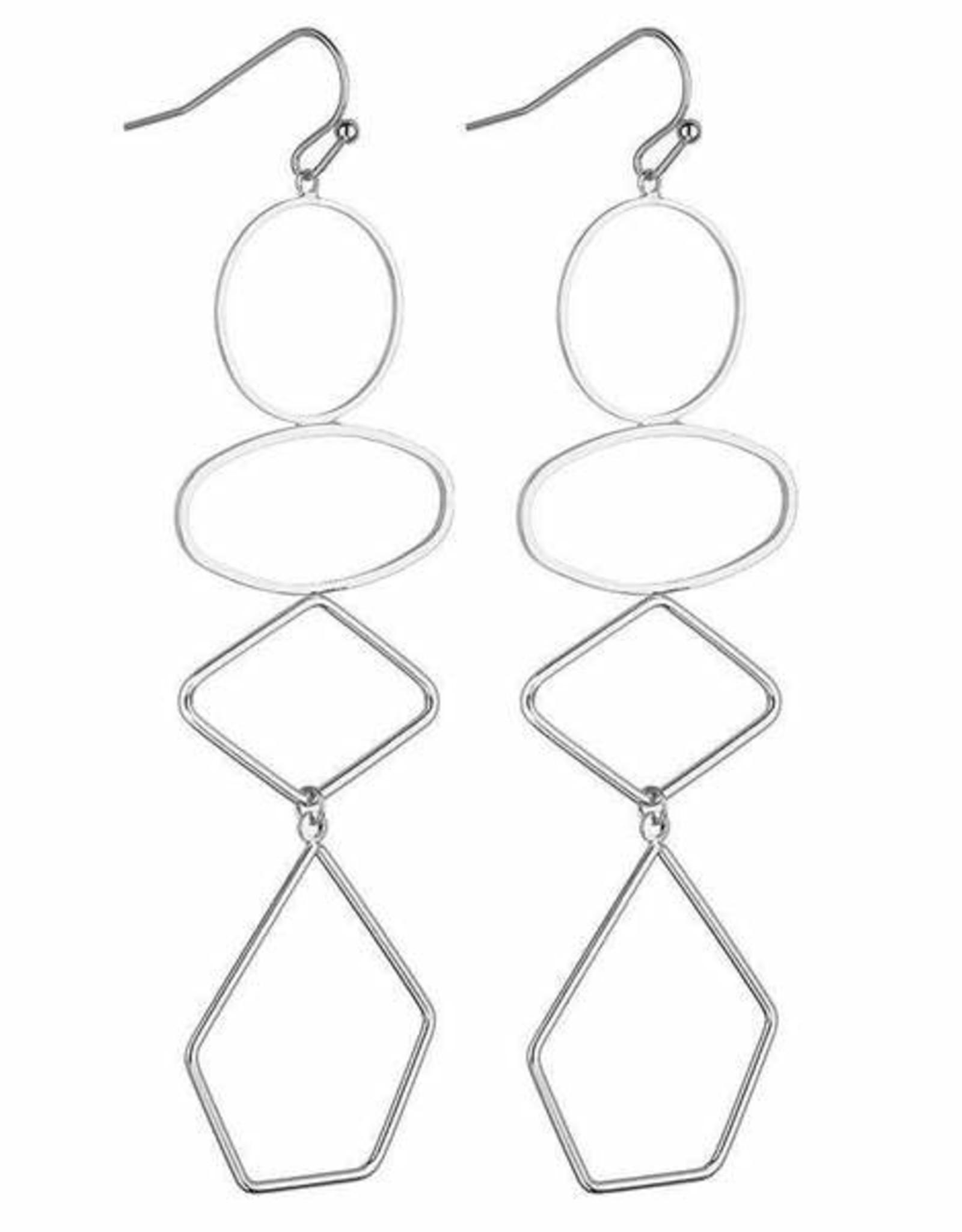 Lorna Geometric Earrings -Silver