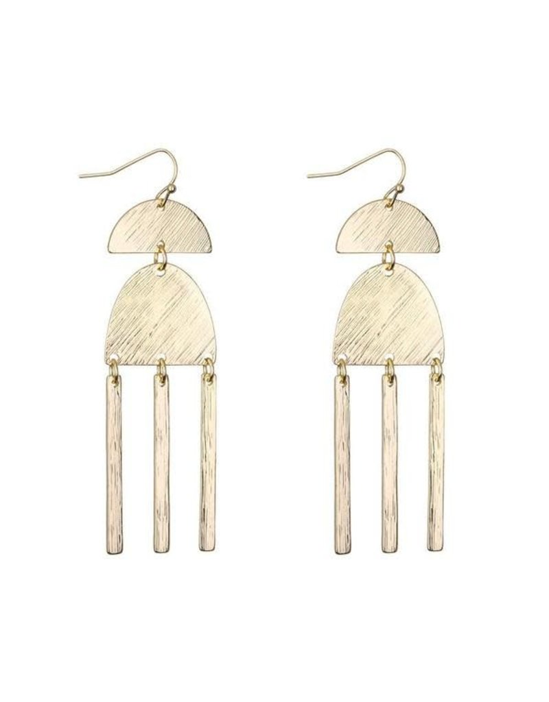 G X G Collective Sharon Gold Statement Earrings