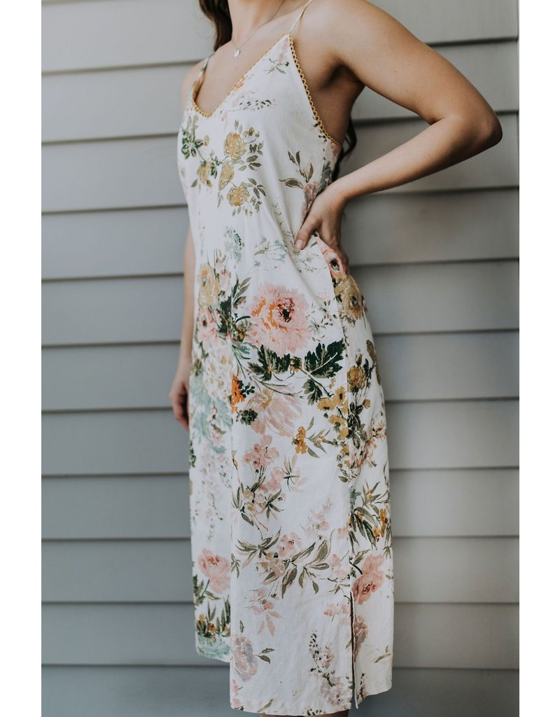 island the label Sorrento midi dress floral XS