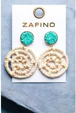 Zafino Aspen Rattan Drop Aqua