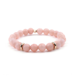 Pink Quartz Large Stone Bangle