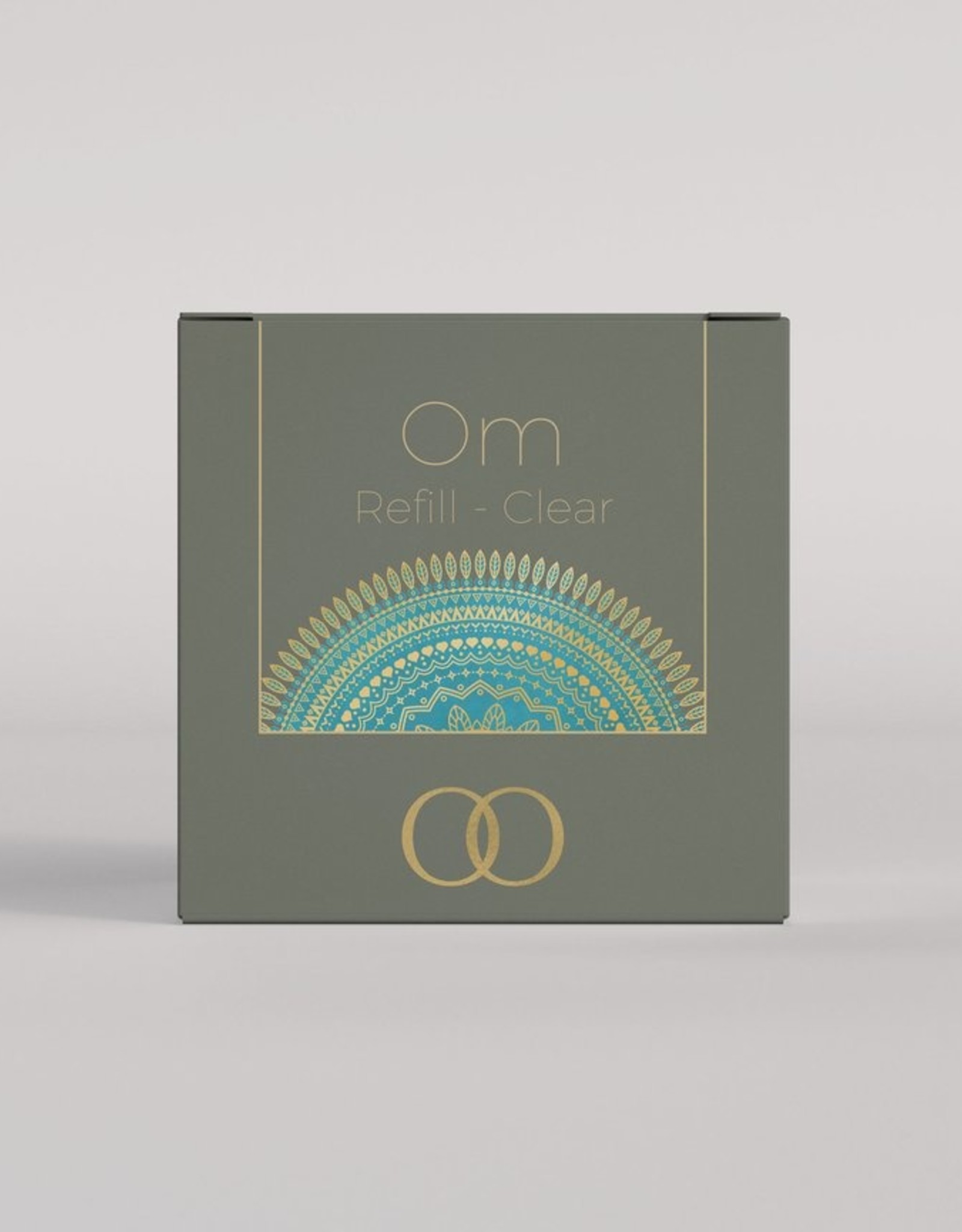 Only Orb Small glass candle Om