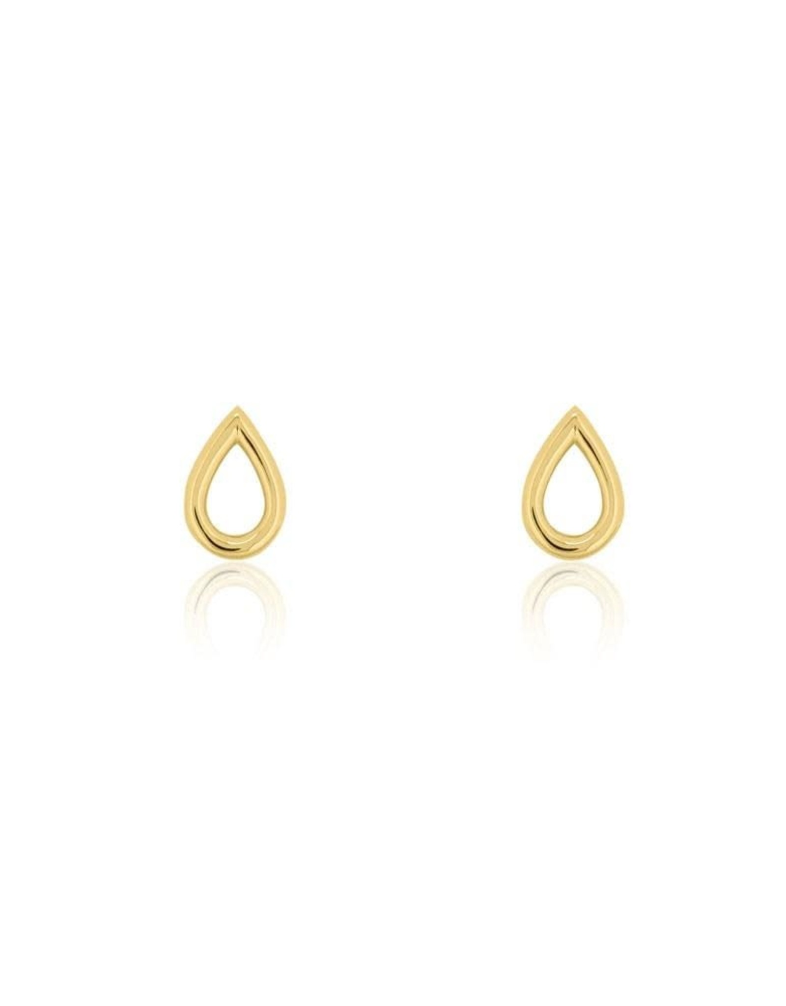 Open Drop Stud Earrings, Gold