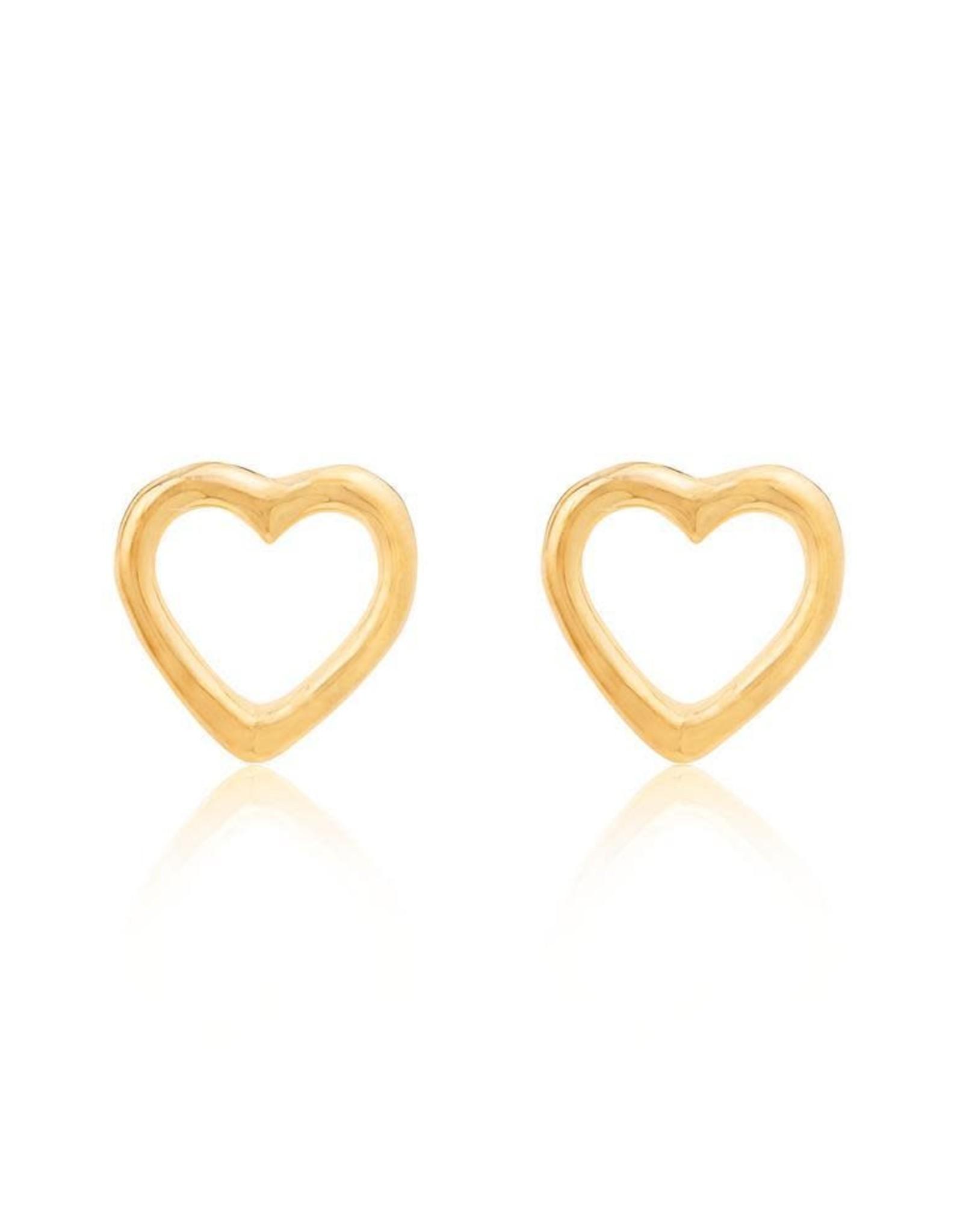 Linda Tahija Open Heart Stud Earrings