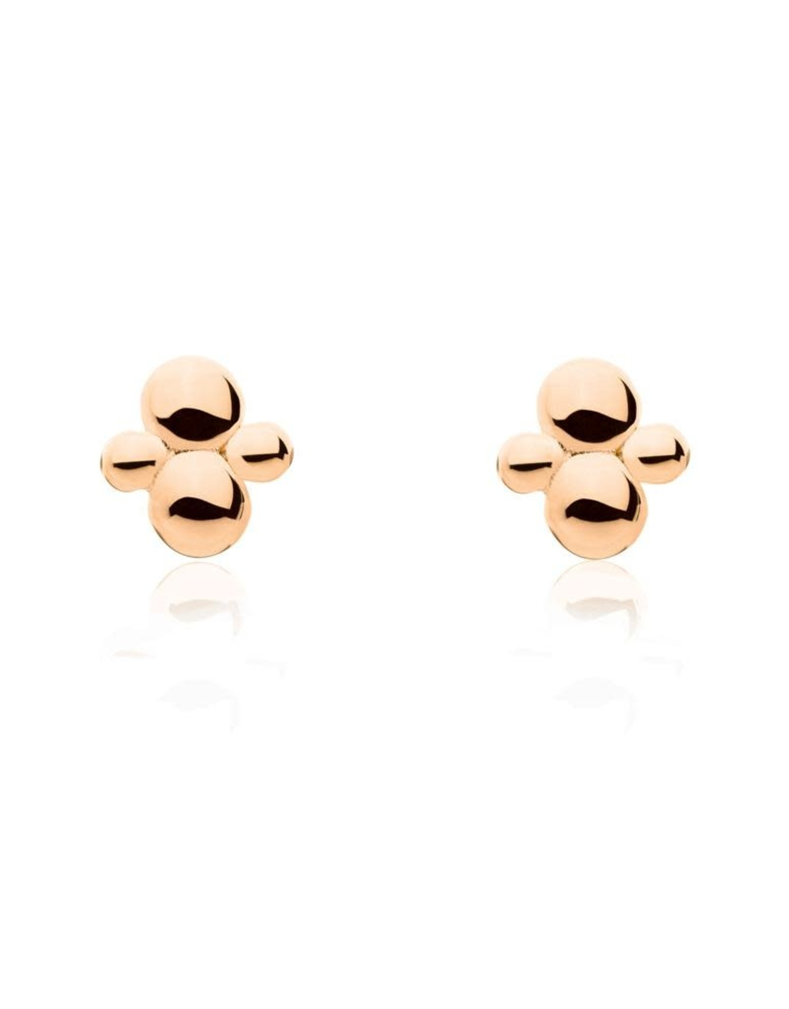 Cluster Earrings, Rose Gold