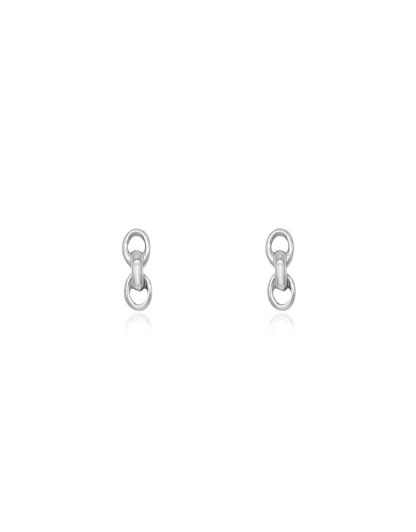 Chain Stud Earring, Silver
