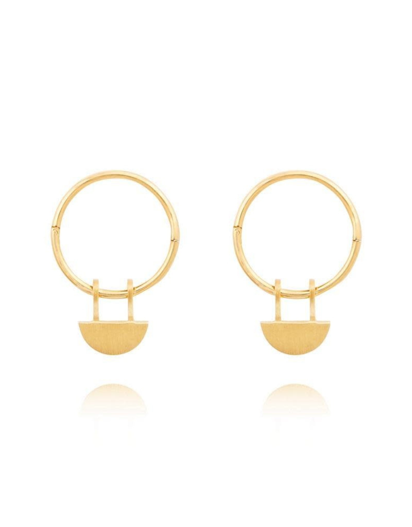 Linda Tahija Yolly Sleeper Hoop Earrings, Gold