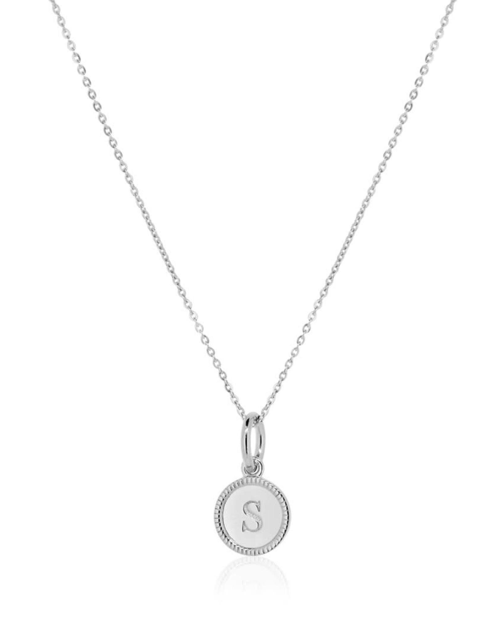 Linda Tahija Initial Pendant, Silver
