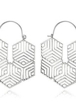 G X G Collective Celine Earrings, Silver