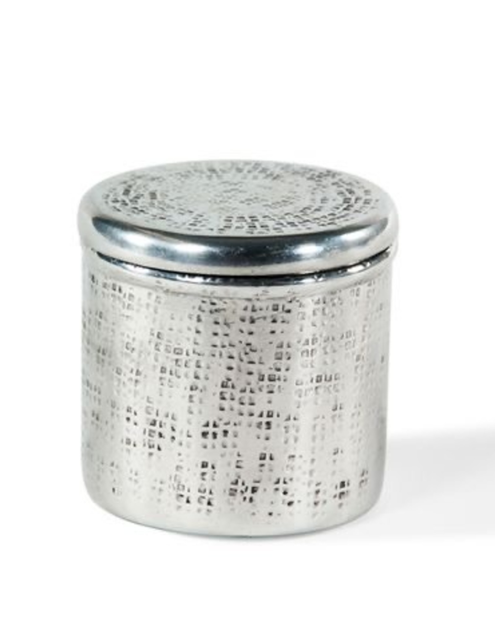 Metal Cannister with Square Design