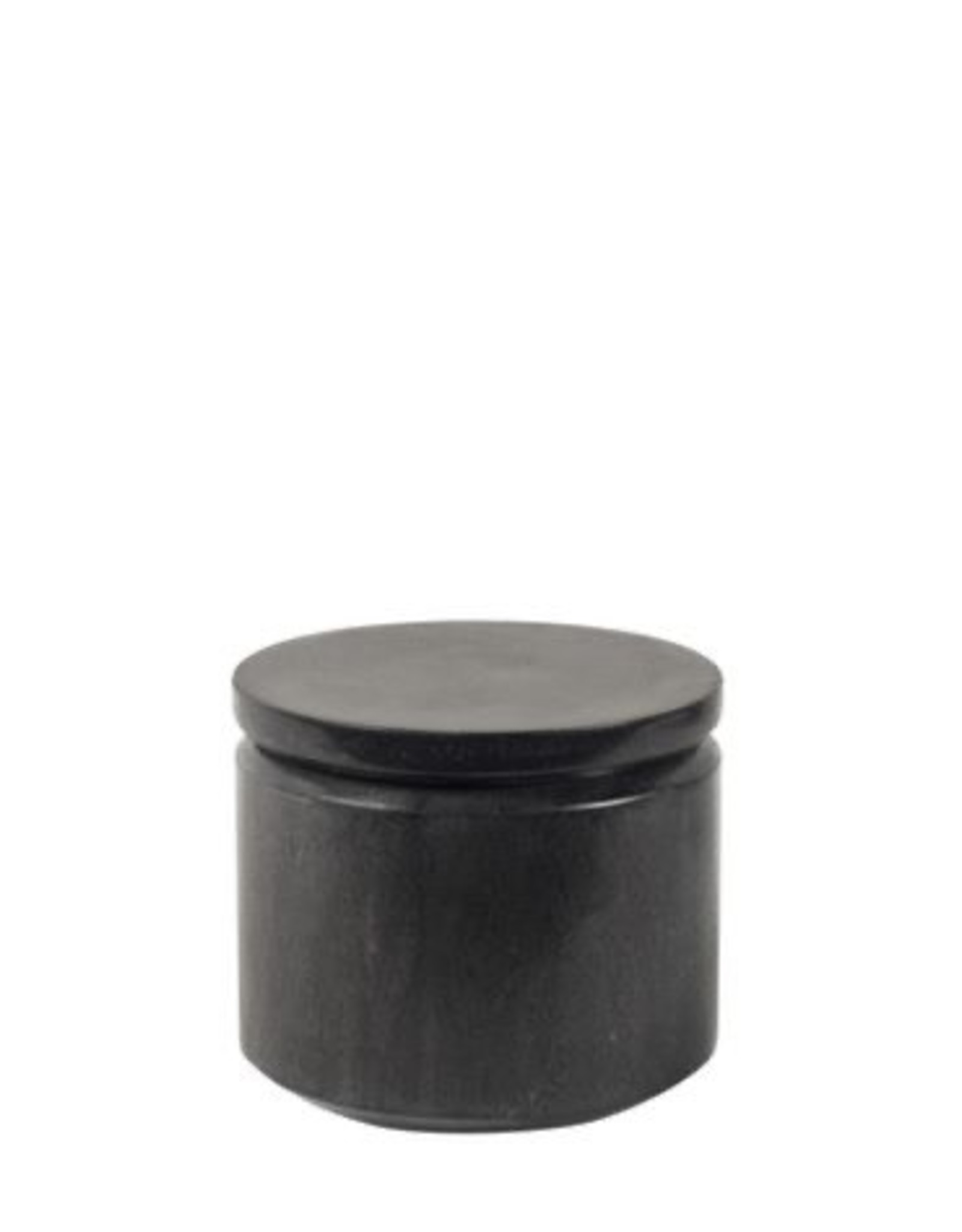 Black Marble Round Jar