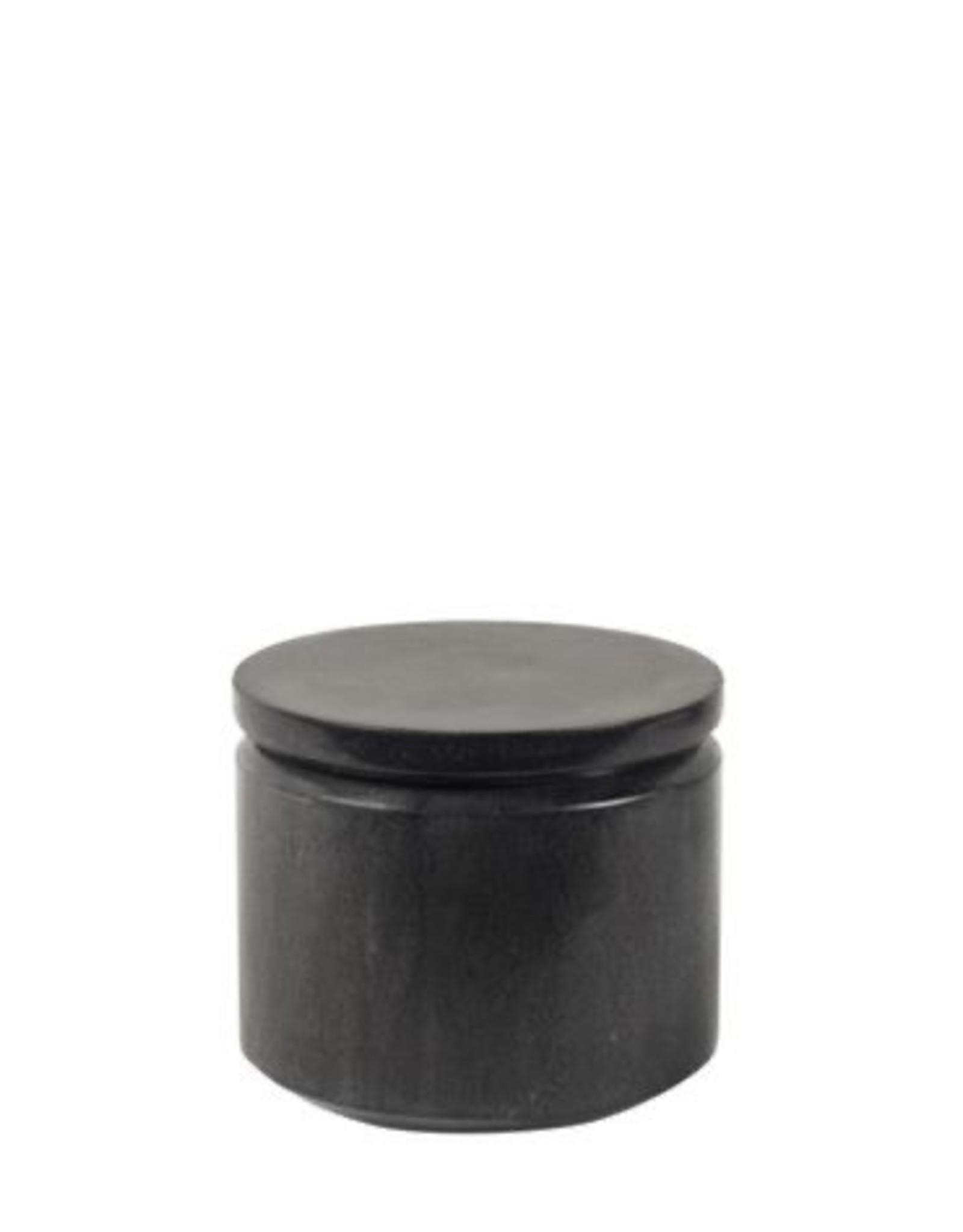Horgans Black Marble Round Jar