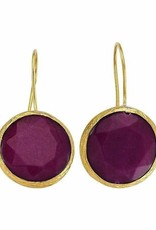 Purple 18kt over brass natural stone