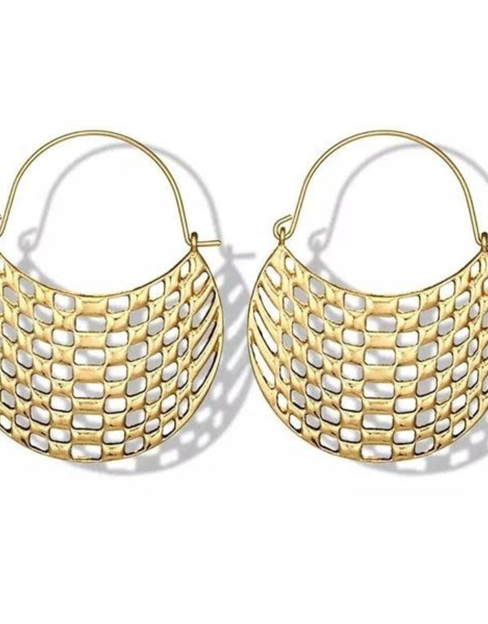 Arabella Lattice Earrings Gold