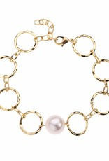 Dominique Freshwater Pearl Adjustable Cuff Bangle