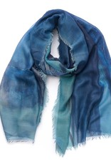 Abstract scarf small (blue)