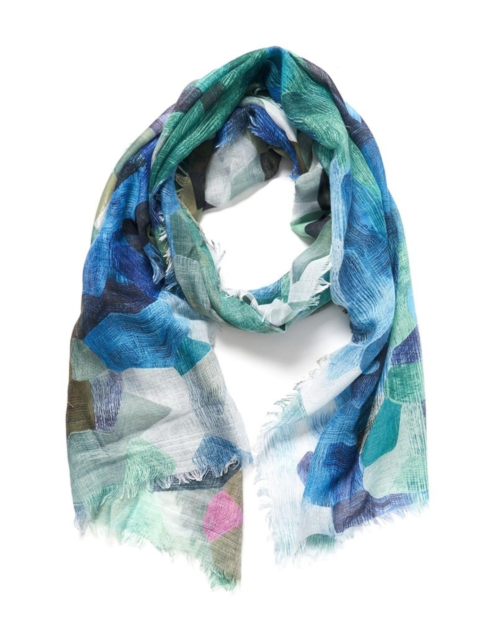 Pixelate light scarf (green)