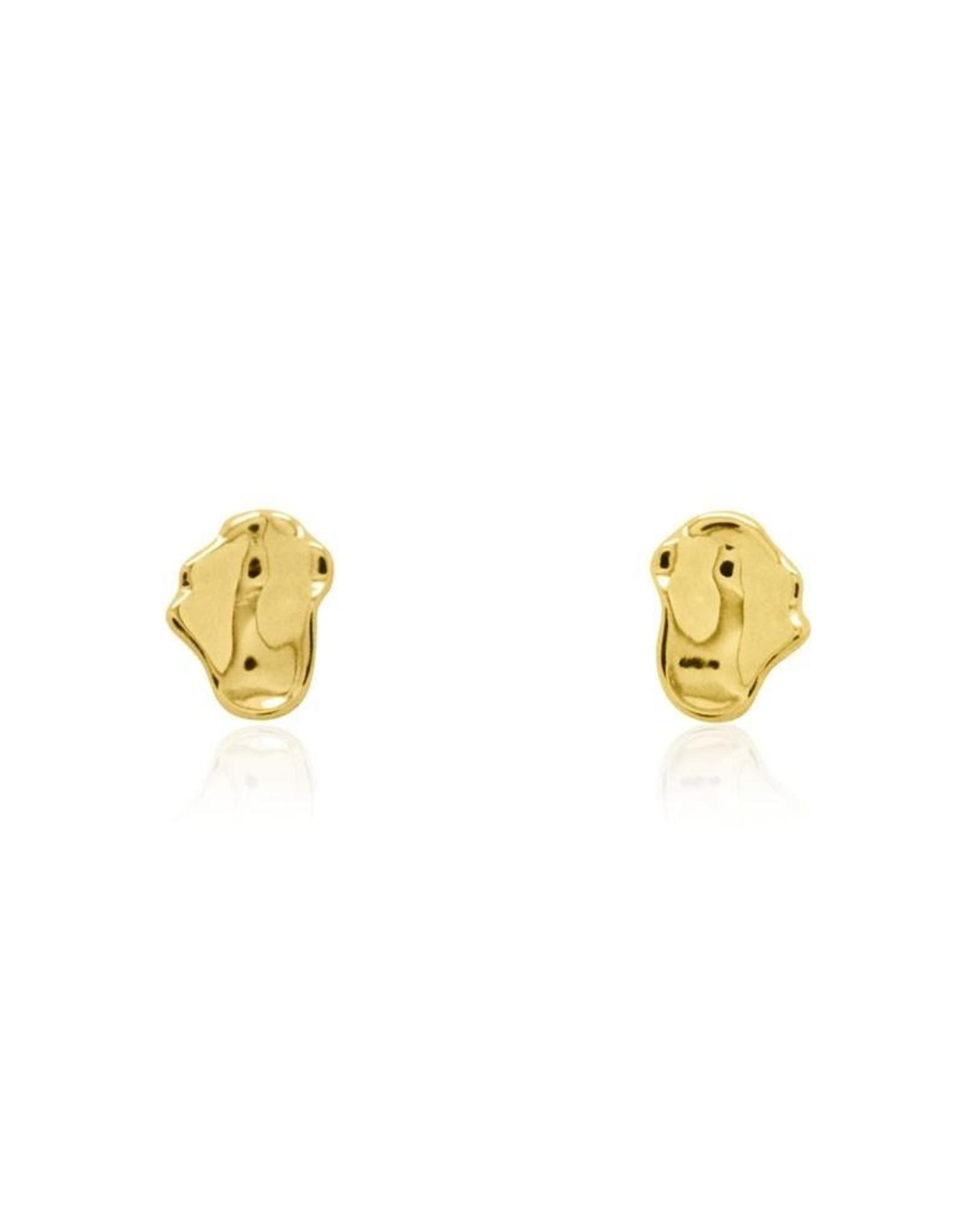 Morph Stud Earrings - Gold Plated
