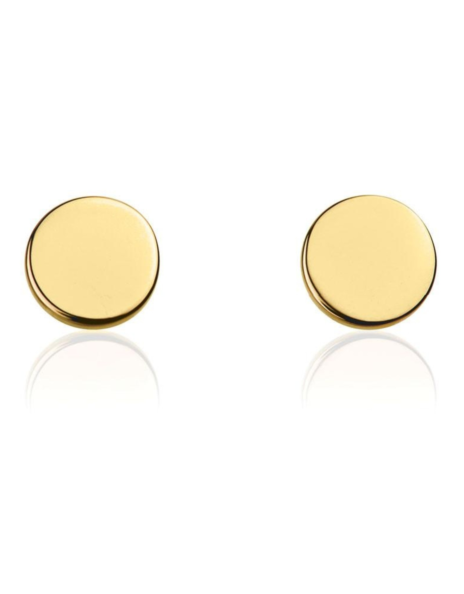 Disc Stud Earring - Gold plated Sterling Silver