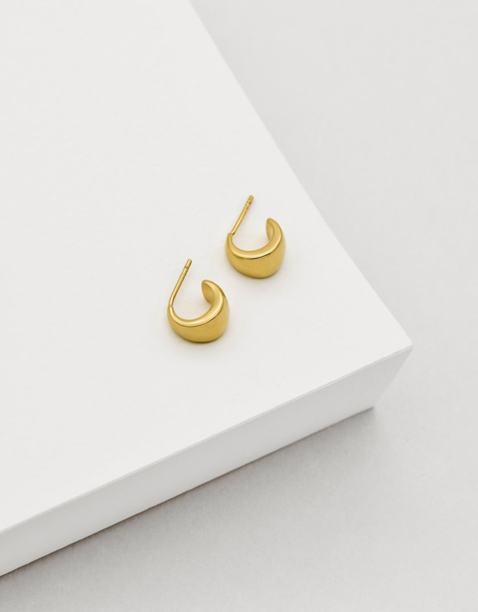 Elizabeth Hoop Earrings - Gold Plated Sterling Silver