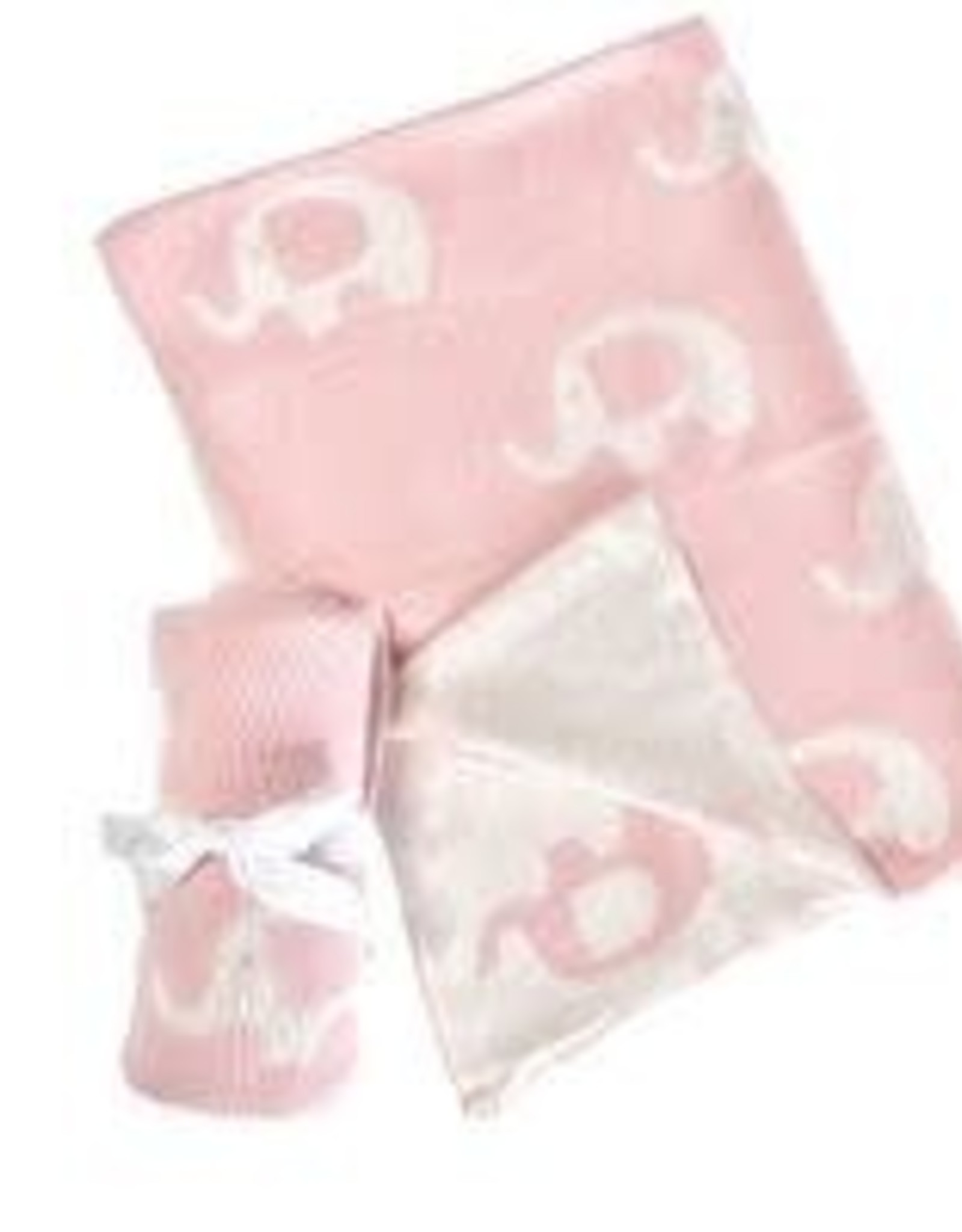 Knitted Baby Blanket  - Pink Elephant