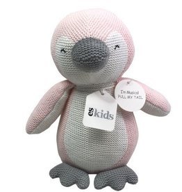 Knitted Musical Penguin - Pink