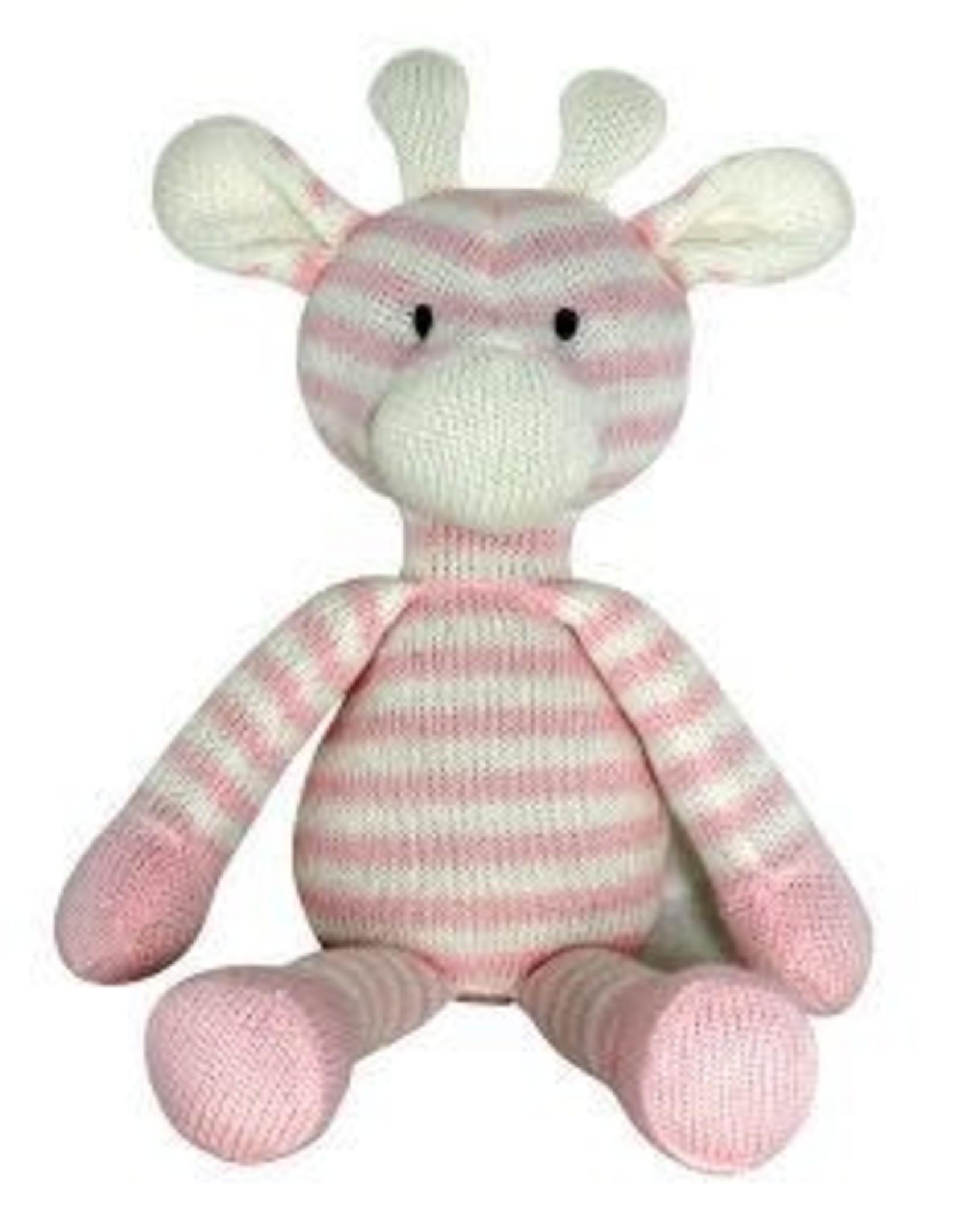 Knitted Giraffe Pink