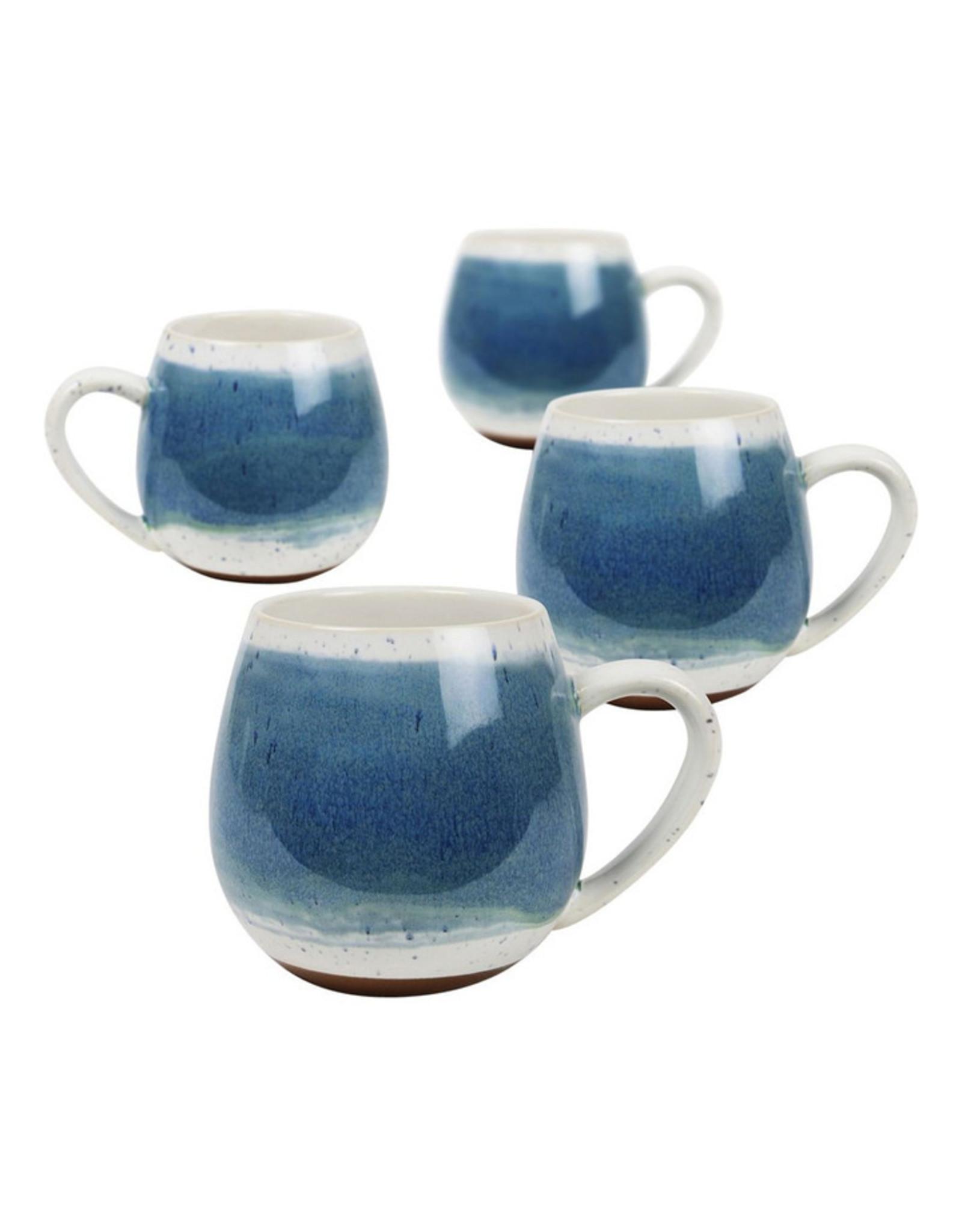 Hug Me Mugs 4 pk Blue Meditteranean