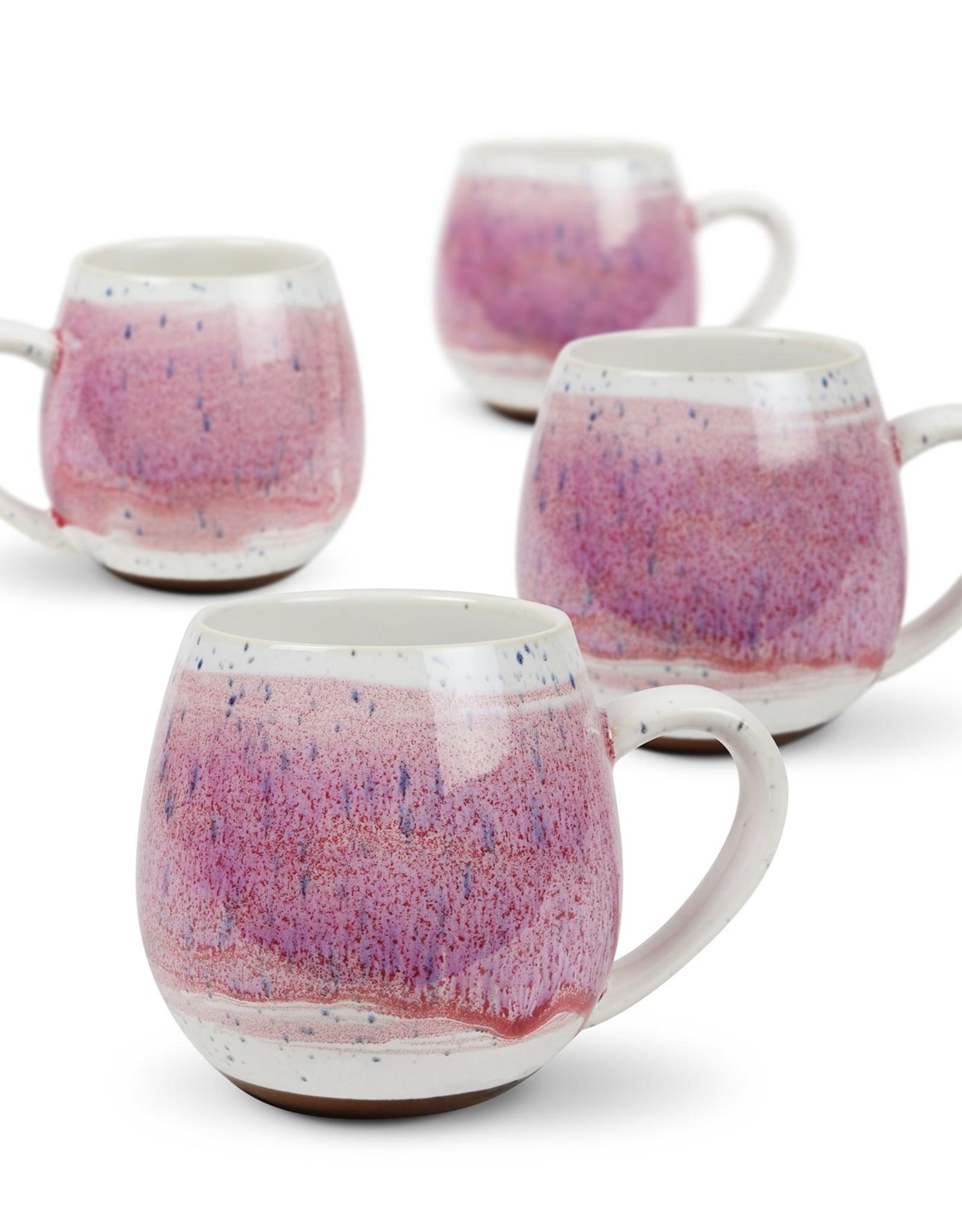 Hug Me Mugs 4 pk Pink Mediterranean