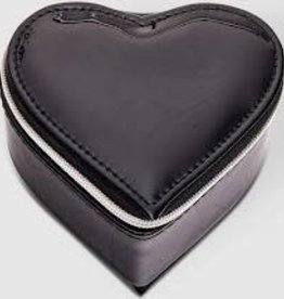 Black Patent Heart Jewellery Box