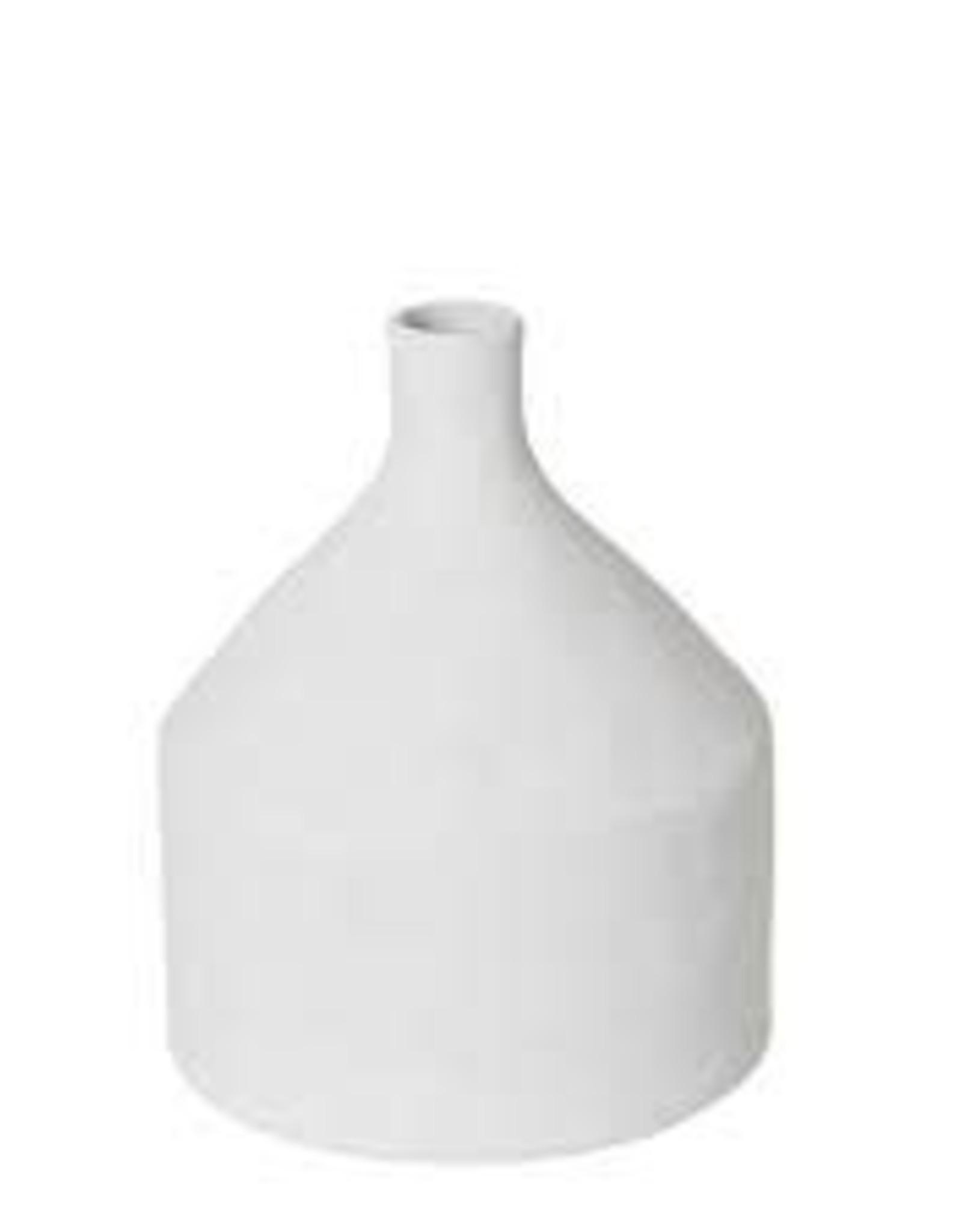 Imani white textured bottle vase
