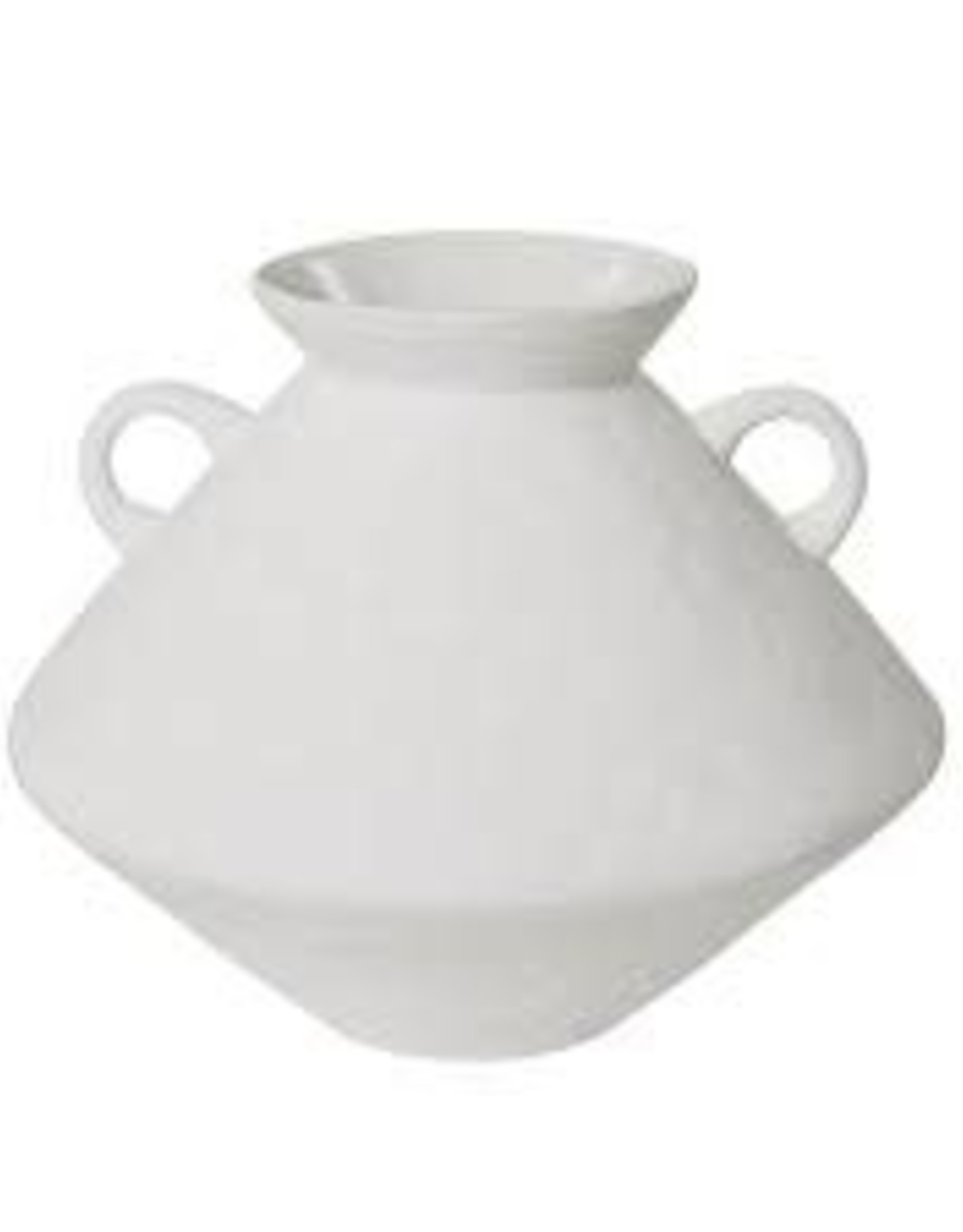 Cato white textured vase