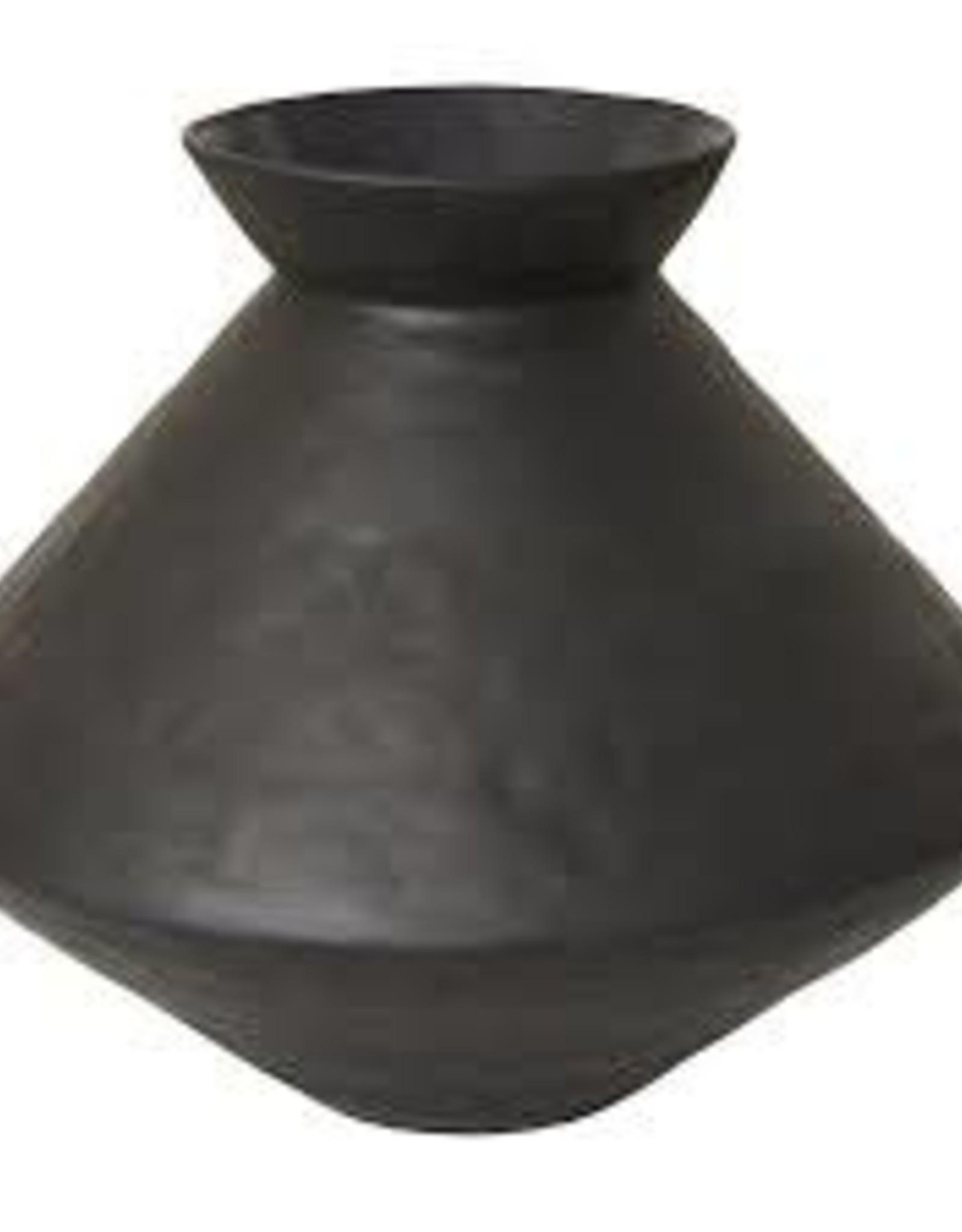 Aurora Black textured vase