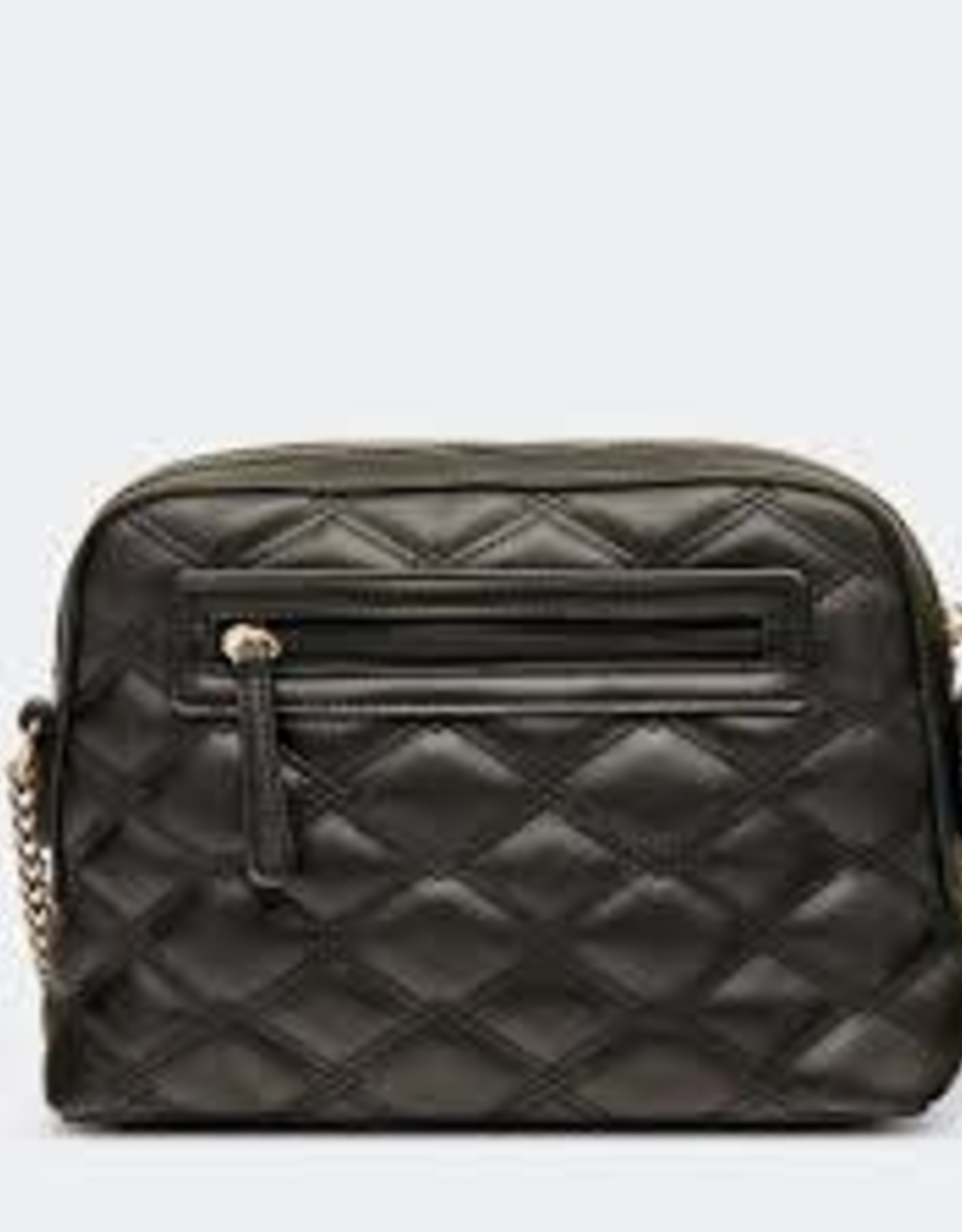 Nancy Quilted Black Crossbody Bag
