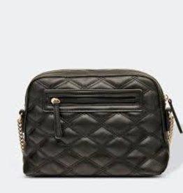 Nancy Quilted Black Crossbody Bag
