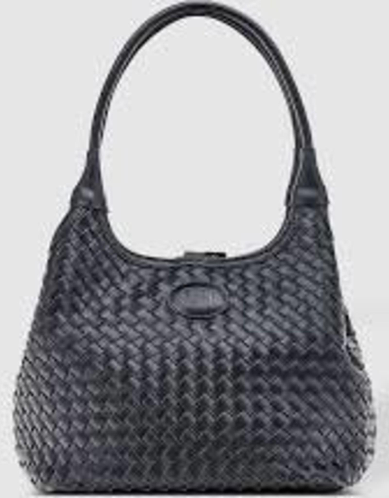 Poppet Plait Black Top Handle Bag
