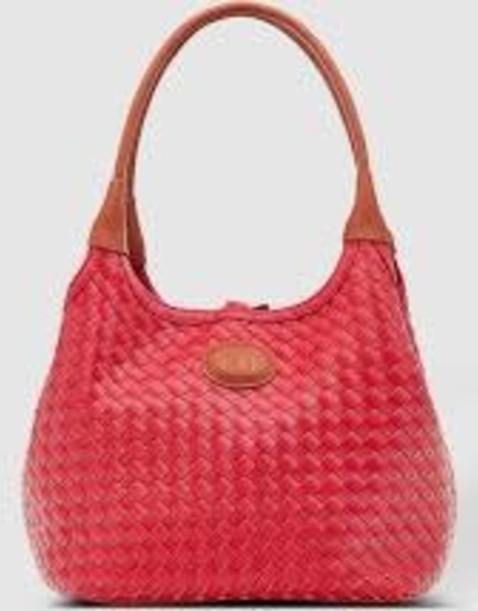 Poppet Plait Raspberry Top Handle Bag