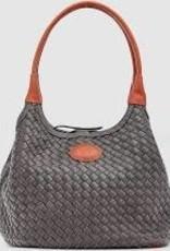Poppet Plait Smoke Top Handle Bag