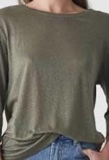 Bronte Linen T-Shirt Khaki SMALL