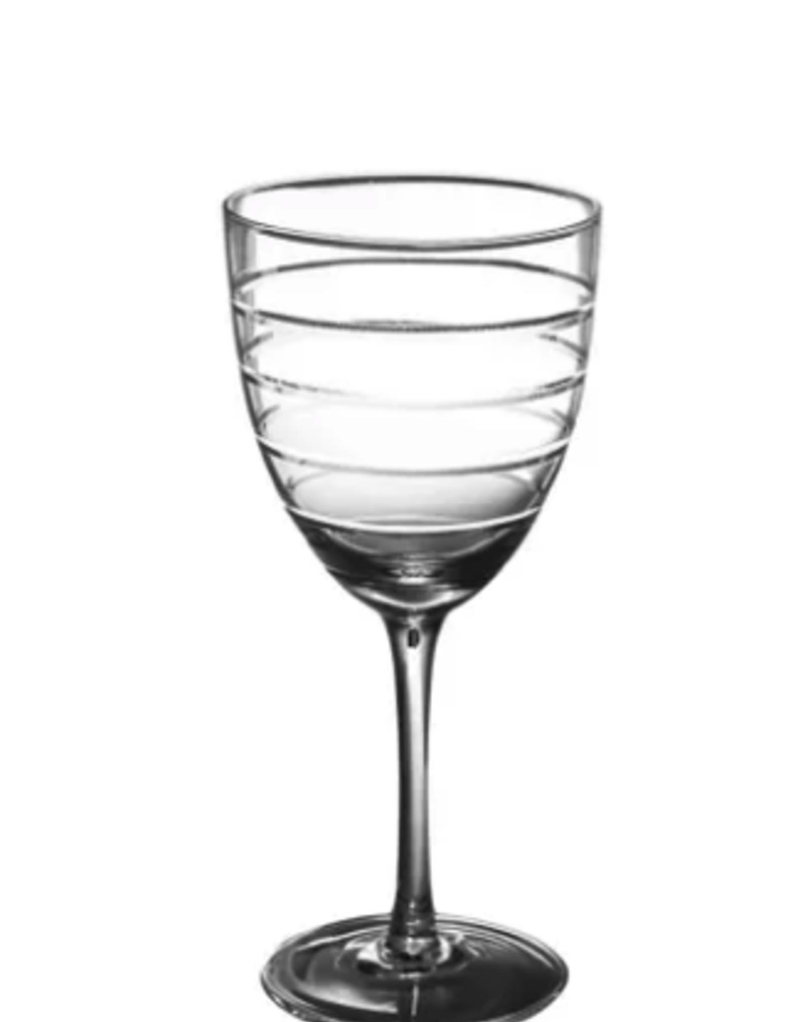 Abella White Wine Glass w etching